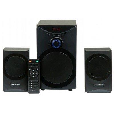 Компьютерная акустика Nakatomi GS-25 черный (GS-25 black)Компьютерная акустика Nakatomi<br>Колонки Nakatomi GS-25 BLACK 2.1, 12W+2*8W RMS<br>