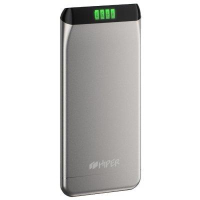 Внешний аккумулятор для портативных устройств HIPER SLS6300 серебристый (SLS6300SILVER)
