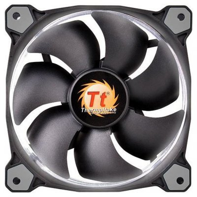 Система охлаждения корпуса ПК Thermaltake Riing 14 LED White (CL-F039-PL14WT-A)Системы охлаждения корпуса ПК Thermaltake<br>Вентилятор Thermaltake Riing 14 LED 140mm White + LNC (CL-F039-PL14WT-A)<br>