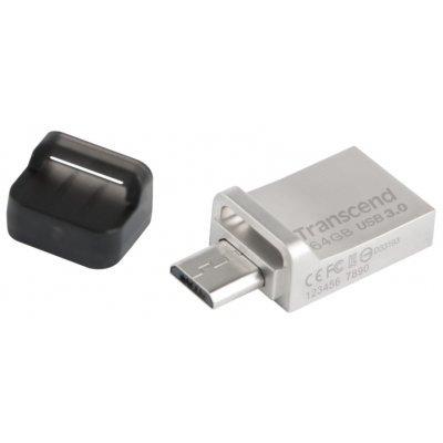 USB накопитель Transcend 64GB JetFlash 880 серебристый (TS64GJF880S) usb flash drive 64gb transcend jetflash 880 silver ts64gjf880s