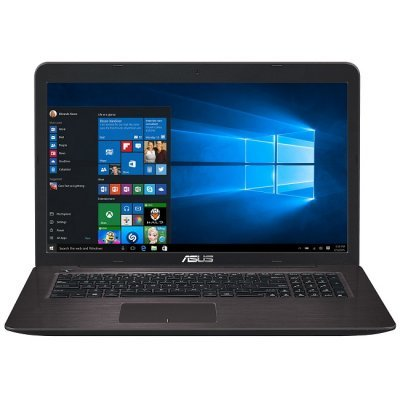 Ноутбук ASUS K756UV-TY045T (90NB0C71-M00450) (90NB0C71-M00450)Ноутбуки ASUS<br>Special Core i3-6100/6Gb/1TB/DVD-Super Multi/17.3 HD+ GL/NV GT920MX 2GB/Wi-Fi/Windows 10/2.7Kg<br>