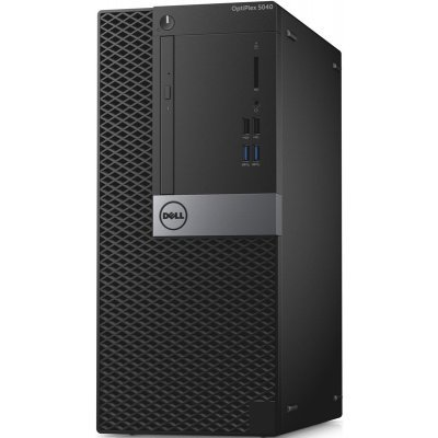 Настольный ПК Dell Optiplex 5040 MT (5040-9952) (5040-9952)Настольные ПК Dell<br>i5-6500 (3,2GHz) / 8GB (2x4GB) / 128GB SSD / Intel HD 530 / W7 Pro 64 (WIn10 Pro Licence) / TPM /<br>