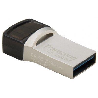 USB накопитель Transcend 32GB JetFlash 890 (TS32GJF890S)USB накопители Transcend<br>Transcend 32GB JetFlash 890 USB 3.1 OTG<br>