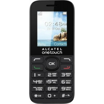 Мобильный телефон Alcatel One Touch 1016D белый (1016D-3BALRU1) телефон alcatel one touch 991 купить
