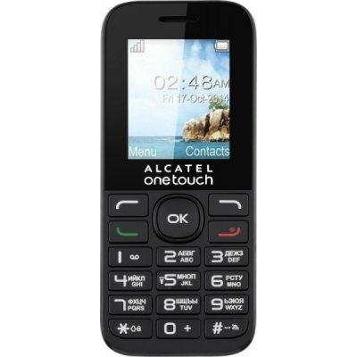 Мобильный телефон Alcatel One Touch 1016D черный (1016D-3AALRU1) мобильный телефон alcatel onetouch 2008g black white