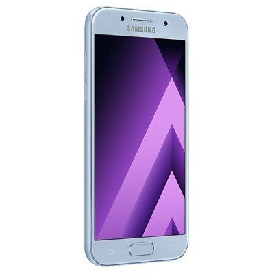 Смартфон Samsung Galaxy A3 (2017) SM-A320F голубой (SM-A320FZBDSER)Смартфоны Samsung<br>смартфон на платформе Android<br>поддержка двух SIM-карт<br>экран 4.7, разрешение 1280x720<br>камера 13 МП, автофокус, F/1.9<br>память 16 Гб, слот для карты памяти<br>3G, 4G LTE, LTE-A, Wi-Fi, Bluetooth, NFC, GPS, ГЛОНАСС<br>объем оперативной памяти 2 Гб<br>аккумулятор 2350 мА/ч<br>вес 138 г, ШxВxТ 66.20x135.40x7.90  ...<br>