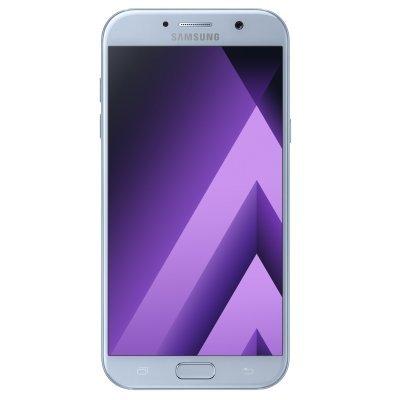 Смартфон Samsung Galaxy A7 (2017) SM-A720F голубой (SM-A720FZBDSER)Смартфоны Samsung<br>смартфон на платформе Android<br>поддержка двух SIM-карт<br>экран 5.7, разрешение 1920x1080<br>камера 16 МП, автофокус<br>память 32 Гб, слот для карты памяти<br>3G, 4G LTE, Wi-Fi, Bluetooth, NFC, GPS, ГЛОНАСС<br>объем оперативной памяти 3 Гб<br>аккумулятор 3600 мА/ч<br>вес 186 г, ШxВxТ 77.60x156.80x7.90 мм<br>