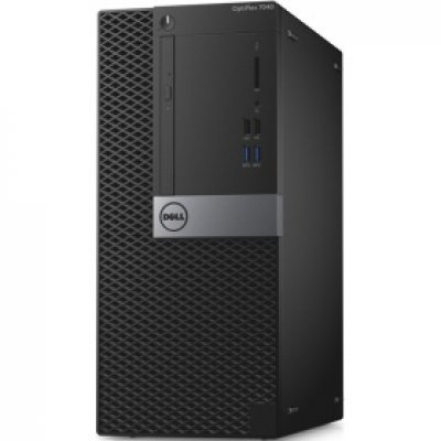 Настольный ПК Dell Optiplex 7040 MT (7040-0057) (7040-0057)Настольные ПК Dell<br>ПК Dell Optiplex 7040 MT i7 6700 (3.4)/8Gb/1Tb 7.2k/R7 350X 4Gb/DVDRW/Windows 7 Professional 64 +W10Pro/GbitEth/240W/черный/серебристый<br>