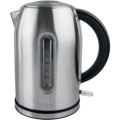 Электрический чайник Scarlett SC-EK21S32 серебристый (SC-EK21S32)Электрические чайники Scarlett<br>Чайник электрический Scarlett SC-EK21S32 1.7л. 2200Вт серебристый (корпус: нержавеющая сталь)<br>