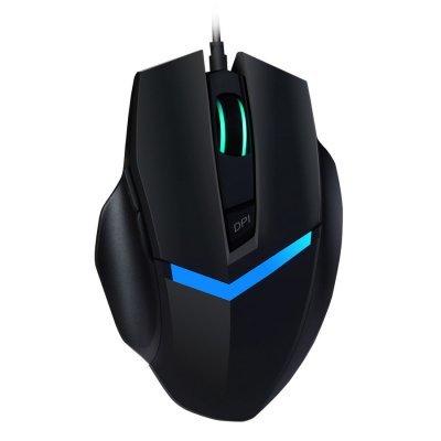 Мышь OKLICK 825G черный/синий (MW-1405) мышь oklick 825g black usb