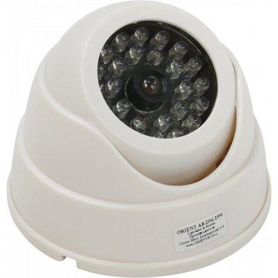 Муляж камеры Orient AB-DM-25W (AB-DM-25W)Муляжи камеры Orient<br>Муляж камеры видеонаблюдения Orient AB-DM-25W купольная, LED (мигает), для наружного наблюдения<br>