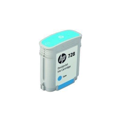 Картридж для струйных аппаратов HP 728 Cyan Ink (F9J63A)Картриджи для струйных аппаратов HP<br>Ресурс 40 мл, цвет: голубой, тип: струйный, совместим с: DJ Т730/Т830 (F9J63A)<br>