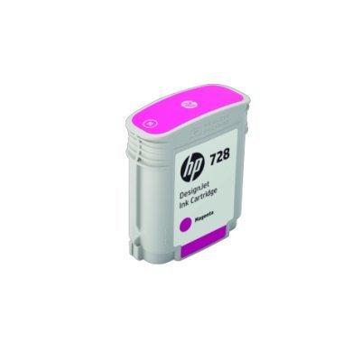 Картридж для струйных аппаратов HP 728 Magenta Ink (F9J62A)Картриджи для струйных аппаратов HP<br>Ресурс 40 мл, цвет: пурпурный, тип: струйный, совместим с: DJ Т730/Т830 (F9J62A)<br>