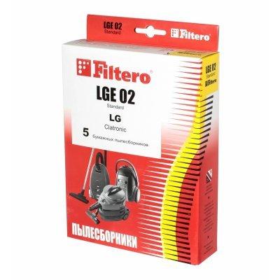 Пылесборник для пылесоса Filtero LGE 02 (5) Standard (LGE 02 (5) STANDARD)Пылесборники для пылесосов Filtero<br>Пылесборники Filtero LGE 02 Standard двухслойные (5пылесбор.)<br>