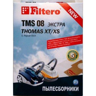 Пылесборник для пылесоса Filtero TMS 08 (3) Экстра (TMS 08 (3) ЭКСТРА)Пылесборники для пылесосов Filtero<br>Пылесборники Filtero TMS 08 (3) ЭКСТРА (3пылесбор.)<br>