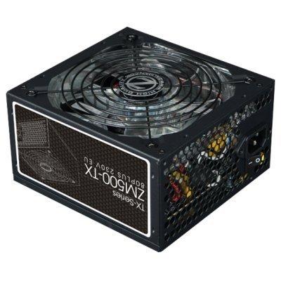 Блок питания ПК ZALMAN ZM500-TX 500W (ZM500-TX)Блоки питания ПК ZALMAN<br>Блок питания ZALMAN ZM500-TX 500W 80PLUS, ATX 2.31, APFC, 140mm Fan, 2x HDD, 6x SATA, 2x PCI-E, размер упаковки 28.1x18.18x10.1см, RTL<br>