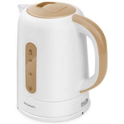 Электрический чайник Rolsen RK-2723P белый/бежевый (RK-2723P (white/beige))Электрические чайники Rolsen<br>Чайник электрический Rolsen RK-2723P 1.7л. 2200Вт белый/бежевый (корпус: пластик)<br>