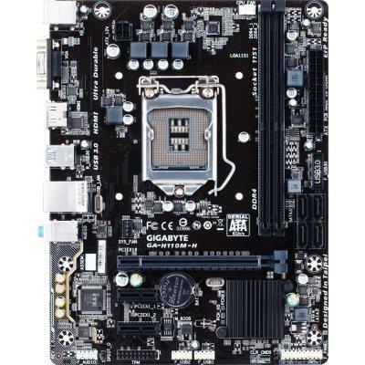 Материнская плата ПК Gigabyte GA-H110M-H (GA-H110M-H) материнская плата пк gigabyte ga h81m s2pv rev 1 0 ga h81m s2pv