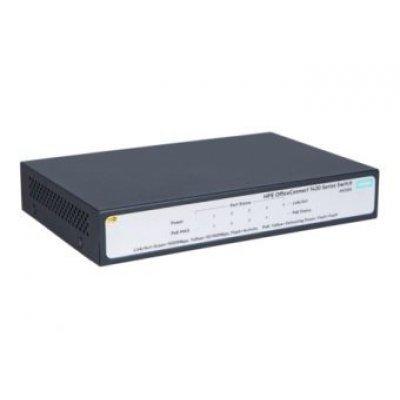Коммутатор HP 1420 PoE+ (JH328A) (JH328A)Коммутаторы HP<br>Коммутатор HP 1420 JH328A 5x10/100/1000BASE-T<br>