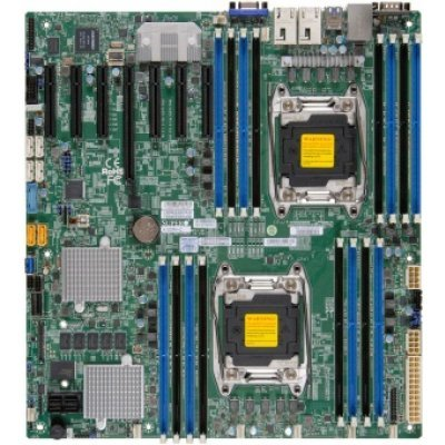Материнская плата сервера SuperMicro MBD-X10DRH-C-O (MBD-X10DRH-C-O)Материнские плата серверов SuperMicro<br>Материнская Плата SuperMicro MBD-X10DRH-C-O Soc-2011 iC612 eATX 16xDDR4 10xSATA3 SATA RAID iI350 2хGgbEth Ret<br>