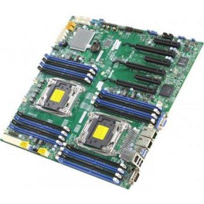 Материнская плата сервера SuperMicro MBD-X10DRI-B (MBD-X10DRI-B)Материнские плата серверов SuperMicro<br>Материнская Плата SuperMicro MBD-X10DRI-B Soc-2011 iC612 eATX 16xDDR4 10xSATA3 SATA RAID iI350 2хGgbEth bulk<br>