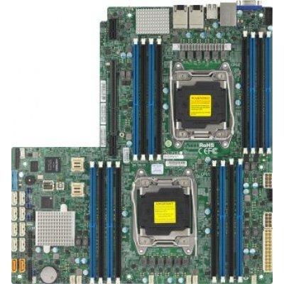 Материнская плата сервера SuperMicro MBD-X10DRW-I-O (MBD-X10DRW-I-O)Материнские плата серверов SuperMicro<br>Материнская Плата SuperMicro MBD-X10DRW-I-O Soc-2011 iC612 16xDDR4 10xSATAII SATA RAID iI350 2хGgbEth Ret<br>