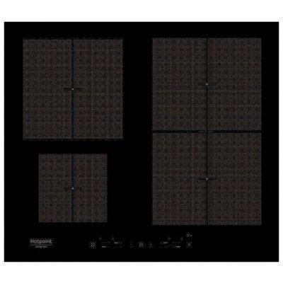Электрическая варочная панель Hotpoint-Ariston KIT 641 F B (KIT 641 F B)Электрические варочные панели Hotpoint-Ariston<br>электрическая варочная панель<br>стеклокерамическая поверхность<br>индукционные конфорки<br>конфорка с овальной зоной нагрева<br>переключатели сенсорные<br>защита от детей<br>индикатор остаточного тепла<br>независимая установка<br>габариты (ШхГ) 59x52 см<br>