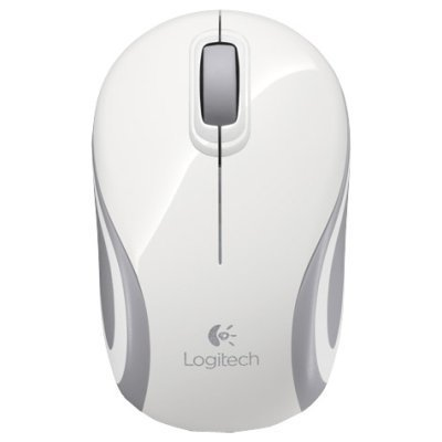 Мышь Logitech Wireless Mini Mouse M187 белый (910-002735)Мыши Logitech<br>Мышь (910-002735) Logitech Wireless Mini Mouse M187, White<br>