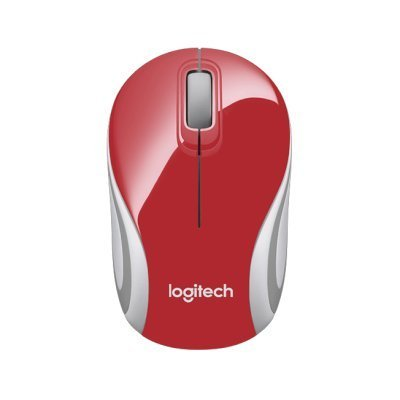 Мышь Logitech Wireless Mini Mouse M187 красный (910-002732)