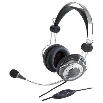 Компьютерная гарнитура Genius HS-04SU (HS-04SU, 31710045100)Компьютерные гарнитуры Genius<br>Наушники с микрофоном Genius HS-04SU с устранением шумовых помех для MSN<br>