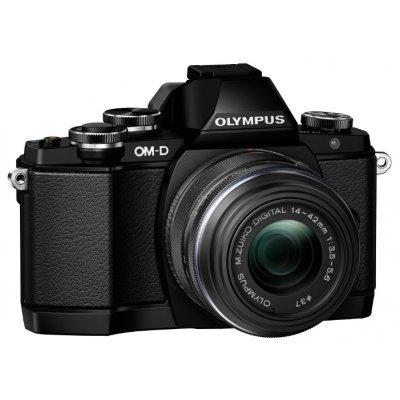 Цифровая фотокамера Olympus OM-D E-M10 Kit (E-M10/black+EZ-M1442EZ/black)Цифровые фотокамеры Olympus<br>OM-D E-M10 Pancake Zoom ED 14-42mm f/3.5-5.6 EZ черный, черный, 16Mpx CMOS, оптическая стаб. матрицы, HD1080/30p, экран 3.0&amp;amp;#039;&amp;amp;#039;, сенсорный, наклонный, Wi-fi, Li-ion, электронный видоискатель<br>
