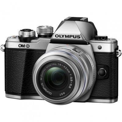 Цифровая фотокамера Olympus OM-D E-M10 Mark II Kit серебристый (E-M10 Mark II /silver+EZ-M1442)Цифровые фотокамеры Olympus<br>E-M10 Mark II /silver+EZ-M1442EZ/silver, 16Mpx CMOS, оптическая стаб. матрицы, HD1080/30p, экран 3.0  , сенсорный, наклонный, Wi-fi, Li-ion, электронный видоискатель<br>