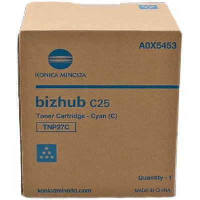 Тонер для лазерных аппаратов Konica Minolta TNP-27C синий (A0X5453) dr512 dr 512 dr 512 drum cartridge for konica minolta bizhub c364 c284 c224 c454 c554 image unit with chip and opc