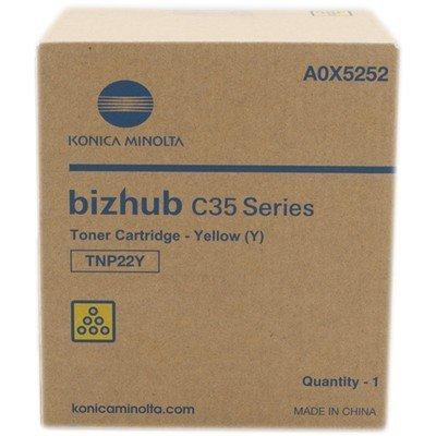 Тонер для лазерных аппаратов Konica Minolta TNP-22Y желтый (A0X5252)Тонеры для лазерных аппаратов Konica Minolta<br>Тонер Konica-Minolta bizhub C35/C35P желтый<br>