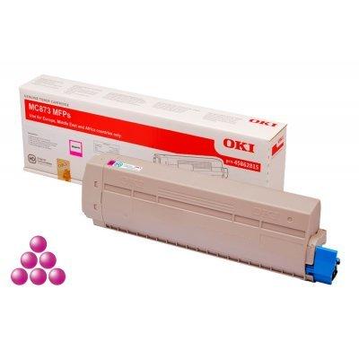 Тонер-картридж для лазерных аппаратов Oki 45862815/45862846 (45862815/45862846)Тонер-картриджи для лазерных аппаратов Oki<br>Тонер-картридж Oki МС873 10K (magenta)<br>