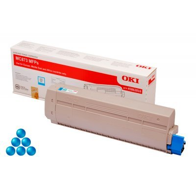 Тонер-картридж для лазерных аппаратов Oki 45862816/45862847 (45862816/45862847)Тонер-картриджи для лазерных аппаратов Oki<br>Тонер-картридж Oki МС873 10K (cyan)<br>