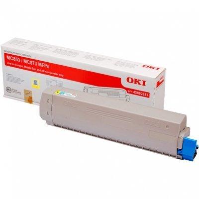 Тонер-картридж для лазерных аппаратов Oki 45862837/45862849 (45862837/45862849)Тонер-картриджи для лазерных аппаратов Oki<br>Тонер-картридж Oki MC853/873 7.3K (yellow)<br>