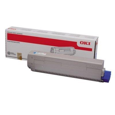 Тонер-картридж для лазерных аппаратов Oki 44844627/44844615 (44844627/44844615)Тонер-картриджи для лазерных аппаратов Oki<br>Тонер-картридж Oki C822 7.3К (cyan)<br>