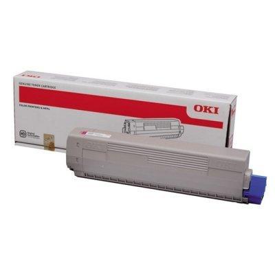 Тонер-картридж для лазерных аппаратов Oki 44844626/44844614 (44844626/44844614)Тонер-картриджи для лазерных аппаратов Oki<br>Тонер-картридж Oki C822 7.3К (magenta)<br>