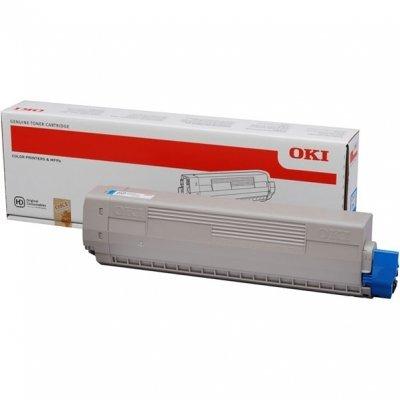 Тонер-картридж для лазерных аппаратов Oki 44844507/44844519 (44844507/44844519)Тонер-картриджи для лазерных аппаратов Oki<br>Тонер-картридж Oki C831/841 10K (cyan)<br>