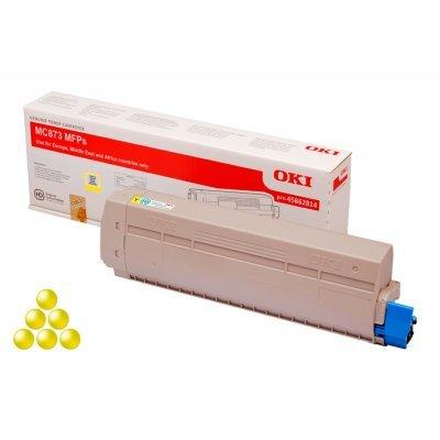 Тонер-картридж для лазерных аппаратов Oki 45862814/45862845 (45862814/45862845)Тонер-картриджи для лазерных аппаратов Oki<br>Тонер-картридж Oki МС873 10K (yellow)<br>