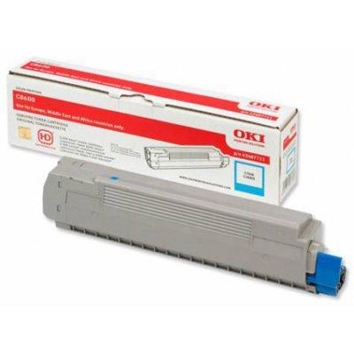 Тонер-картридж для лазерных аппаратов Oki 44643007/44643003 (44643007/44643003)Тонер-картриджи для лазерных аппаратов Oki<br>Тонер-картридж Oki C801/821 7.3K (cyan)<br>