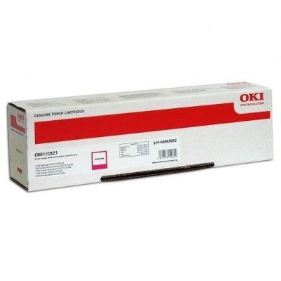 Тонер-картридж для лазерных аппаратов Oki 44643006/44643002 (44643006/44643002)Тонер-картриджи для лазерных аппаратов Oki<br>Тонер-картридж Oki C801/821 7.3K (magenta)<br>