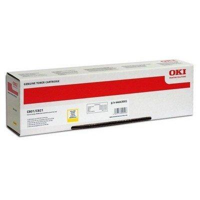 Тонер-картридж для лазерных аппаратов Oki 44643005/44643001 (44643005/44643001)Тонер-картриджи для лазерных аппаратов Oki<br>Тонер-картридж Oki C801/821 7.3K (yellow)<br>