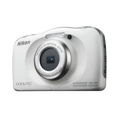 Цифровая фотокамера Nikon CoolPix W100 белый (VQA010K001)Цифровые фотокамеры Nikon<br>Фотоаппарат Nikon CoolPix W100 белый 13.2Mpix Zoom3x 2.7 1080p 25Mb SDXC CMOS 1x3.1 5minF HDMI/KPr/DPr/WPr/FPr/EN-EL19<br>