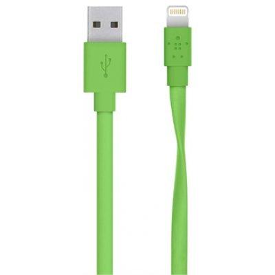 ������ ��� ���������� � ��������� Belkin Mixit Flat Lightning to USB Cable, Green (1.2 m) F8J148bt04-GRN (F8J148bt04-GRN)