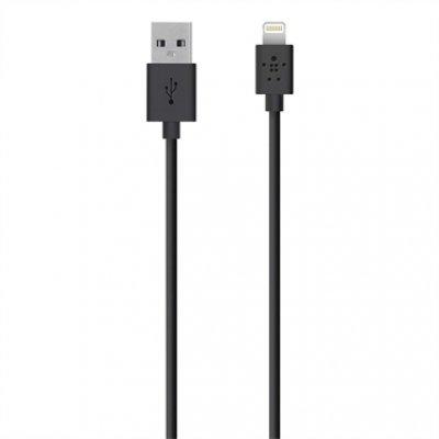 Кабель для смартфонов и планшетов Belkin Lightning to USB Cable, Black (1.2 m) F8J023bt04-BLK (F8J023bt04-BLK)