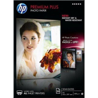 Бумага для принтера HP Premium Plus Semi-gloss Photo Paper-20 sheets CR673A (CR673A)Бумага для принтера HP<br>HP Premium Plus Semi-gloss Photo Paper-20 sht/A4/210 x 297 mm<br>