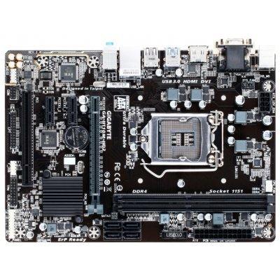 Материнская плата ПК Gigabyte GA-H110M-HD2 (rev. 1.0) (GA-H110M-HD2)Материнские платы ПК Gigabyte<br>материнская плата форм-фактора microATX сокет LGA1151 чипсет Intel H110 2 слота DDR4 DIMM, 2133 МГц разъемы SATA: 6 Гбит/с - 4<br>