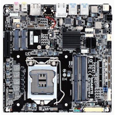 Материнская плата ПК Gigabyte GA-H110TN-E (GA-H110TN-E)Материнские платы ПК Gigabyte<br>форм-фактор Thin Mini-ITX, сокет LGA1151, чипсет Intel H110, 2 слота DDR4 SO-DIMM 2133 МГц, разъемы SATA: 6 бит/с x2 (GA-H110TN-E)<br>